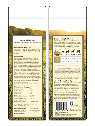 Instinct Raw Boost Grain Free Duck & Turkey Meal Formula Natural Dry Dog Food By Nature'S Variety, 4.1 Lb. Bag