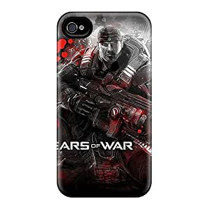 Excellent Cell-phone Hard Cover For Iphone 4/4s (otT5588XHMu) Unique Design Realistic Gears Of War Image
