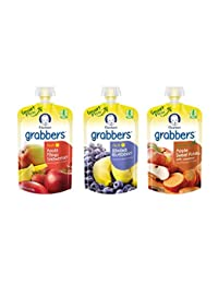 Gerber Graduates Grabbers Squeezable Fruit & Veggies Variety Pack, 4.23 Ounce Pouch, 18 Count BOBEBE Online Baby Store From New York to Miami and Los Angeles