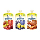 Amazon Price History for:Gerber Graduates Grabbers Squeezable Fruit & Veggies Variety Pack, 4.23 Ounce Pouch, 18 Count