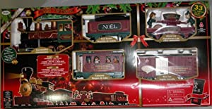 Amazon.com: Santa's North Pole Express Holiday Christmas Train Set ...