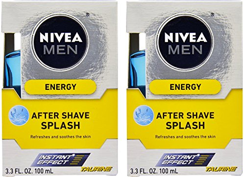 Nivea For Men Energy Taurine After Shave Splash, 3.3 Ounce (Pack of 2)