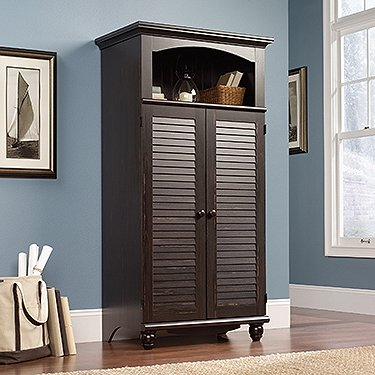 Sauder 138070 Harbor View Computer Armoire, L: 10.38