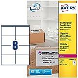 200 Etiketten 8 St/ück pro Blatt, 99,1 x 67,7 mm Avery L7993-25 Wetterfeste Versandetiketten