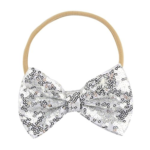 Cinhent Headband 2018 Baby Girls Bow Sequin Elastic Hair Decor Phtography Props
