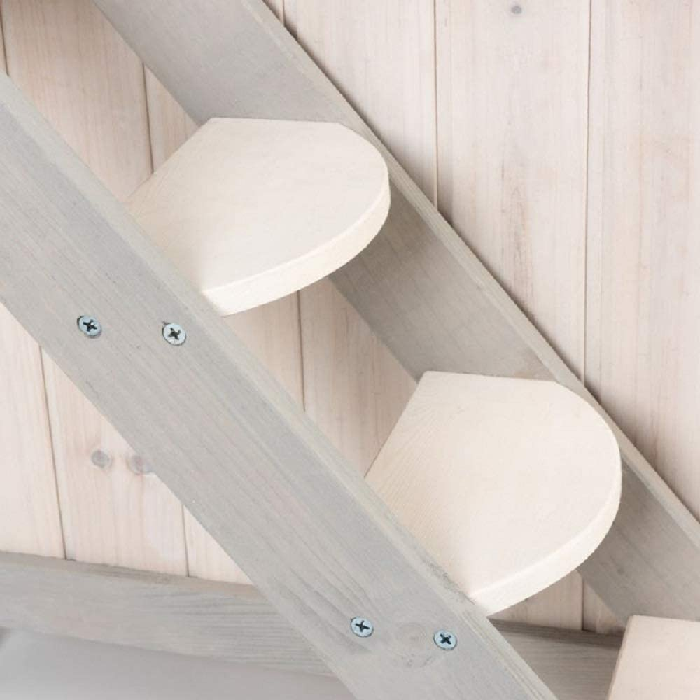 PaylesswithSS Wooden Cat House Stair Den Platform Terrace Sturdy