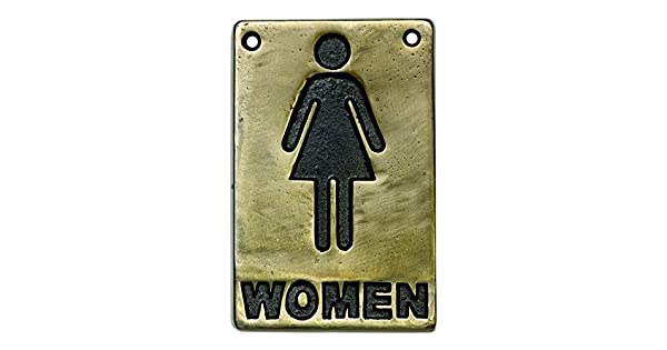 Amazon.com: Bronce Toilet Sign Las mujeres | Ladies baño ...