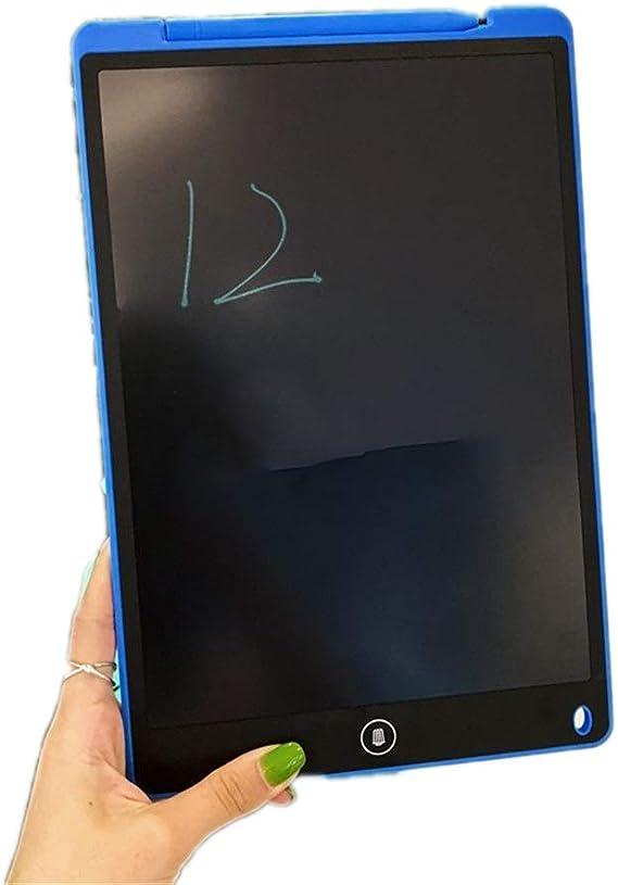 LCDライティングタブレット12インチカラフルなデジタル電子グラフィックタブレットポータブルボード手書き ペン&タッチ マンガ・イラスト制作用モデル (Color : Blue)