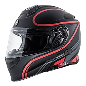 TORC Unisex-adult full-face-helmet-style T28B Bluetooth Integrated Motorcycle Helmet With Graphic Vapor