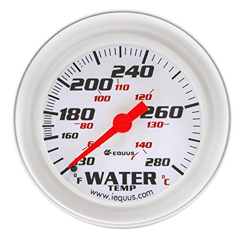 Equus 8442 2-5/8'' Mechanical Water Temperature Gauge, White with Aluminum Bezel by Equus
