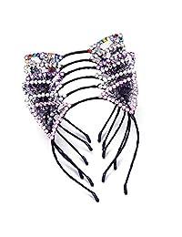 AWAYTR Girls Hairhoop Cat Ears Headbands Kitty Cats Crown Headwear