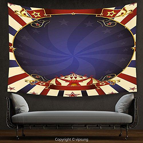 House Decor Tapestry Vintage Circus Theme Retro Carnival Ten