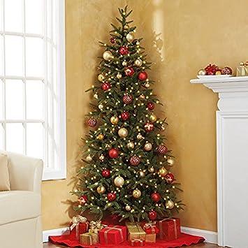 Pre-Lit Fraser Fir Corner Artificial Christmas Tree: Amazon.co.uk ...
