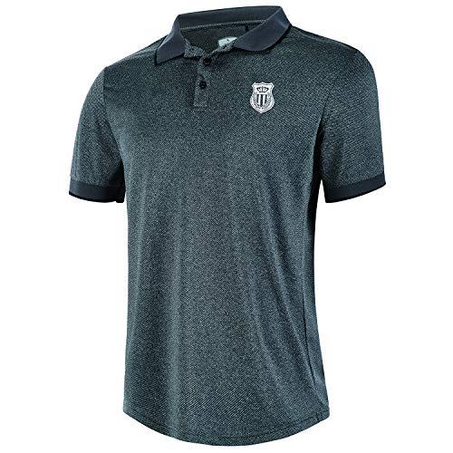 ZITY Men's Polo Shirt Lightweight Cool Dri-Fit Sweat-Wicking Color Block Short Sleeve Sports Golf Tennis T-Shirt Grey M