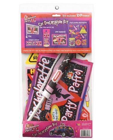 Bachelorette party car decoration kit&amp#44 includes 20 pieces by Leadoff ()