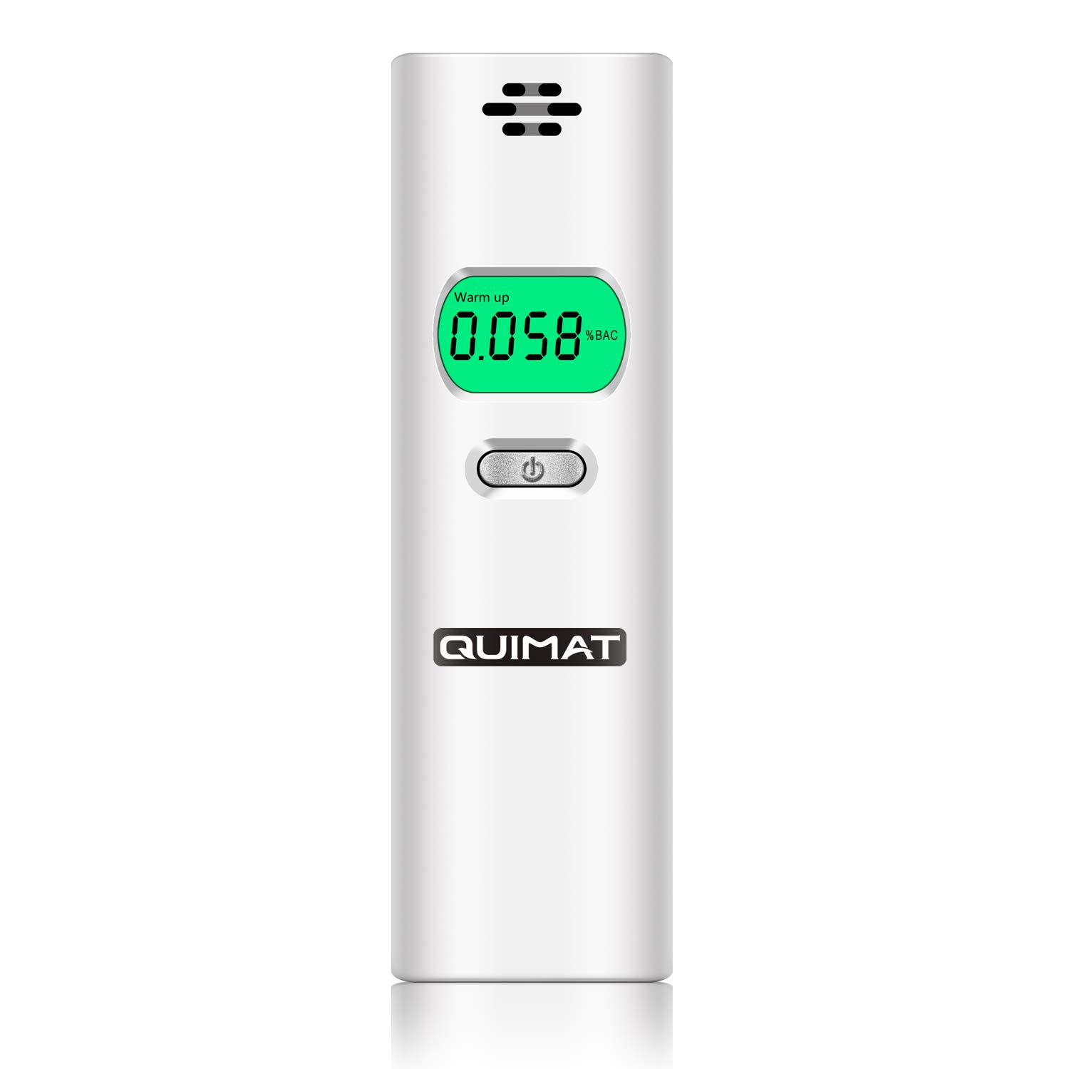 Quimat Breathalyzer, Portable Breath Alcohol Tester, Digital Battery Power Alcohol Detector with LCD Display for Personal & Professional Use