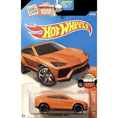 Hot Wheels, 2016 HW Hot Trucks, Lamborghini Urus [Orange] #142/250: Toys & Games