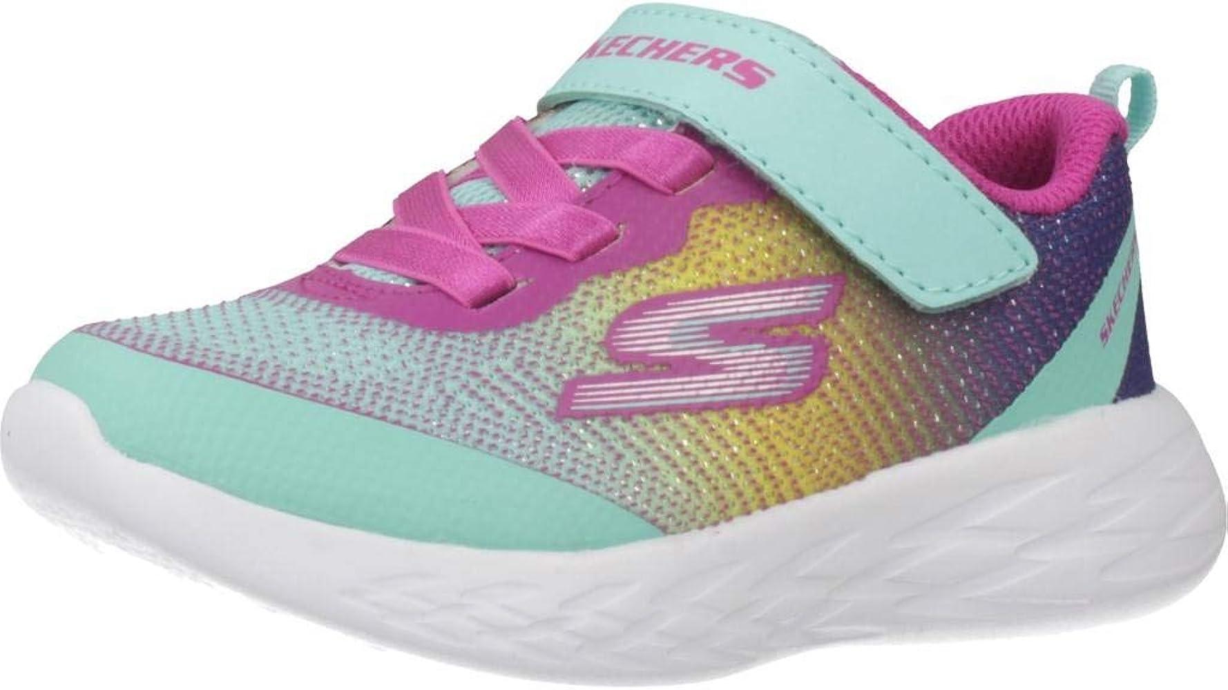 classic fit innovative design factory price Kids Girl's GO Run 600-DAZZLE STRIDES Shoe, Turquoise/Multi, 6 Medium US  Toddler