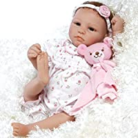 Paradise Galleries Lifelike & Realistic Newborn Baby Doll - Bundle of Joy, 17.5-inch Weighted Baby in GentleTouch Vinyl