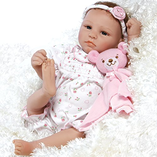 Paradise Galleries Lifelike & Realistic Newborn Reborn Baby Doll, Bundle Joy, 18-inch Weighted Baby in GentleTouch Vinyl, 5-Piece Set