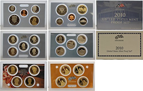 2010 S Proof set Collection Uncirculated US (Presidential Dollar Bu Roll)