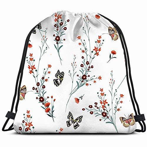 flat lay colored sketch drawing depicting the arts beauty fashion Drawstring Backpack Gym Sack Lightweight Bag Water Resistant Gym Backpack for Women&Men for - Cup Flat Bouquet Only