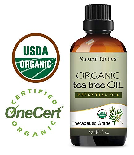Natural Riches Organic Tea Tree Oil 30 ml - Pure Undiluted Melaleuca Alternifolia Oil - Natural Therapeutic Grade Tea Tree Essential Oil for Acne, Hair, Dandruff, Skin Tags, Scalp and Toenail Fungus