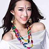 Lecent@ Handmade Ethnic Apparel Accessories Colourfull Necklace Decorative Chain