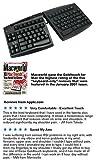 Keyboard USB Ergonomic Qwerty Black for Apple