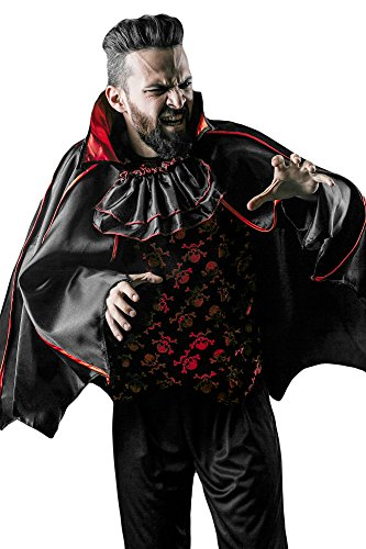 [Gothic Vampire Count Dracula King of Night Dress Up & RolePlay Halloween Costume (Medium/Large)] (Sexy Fairy Halloween Costumes)