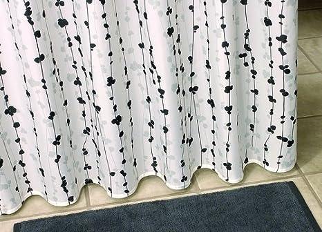 Tende Da Doccia In Tessuto : Tenda da doccia in tessuto motivo fiori fiori ranken colore
