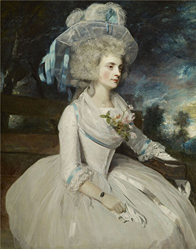 The High Quality Polyster Canvas Of Oil Painting 'Sir Joshua Reynolds - Selina, Lady Skipwith, 1787' ,size: 30x38 Inch / 76x97 Cm ,this High Quality Art Decorative Prints On Canvas Is Fit For Kitchen Decor And Home Decor And Gifts