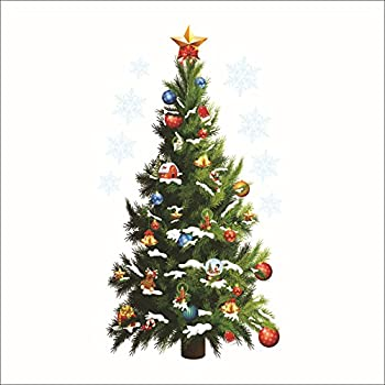 Amazoncom Prelit Christmas Tree Wall Decal Ft Tall X - Christmas wall decals removable