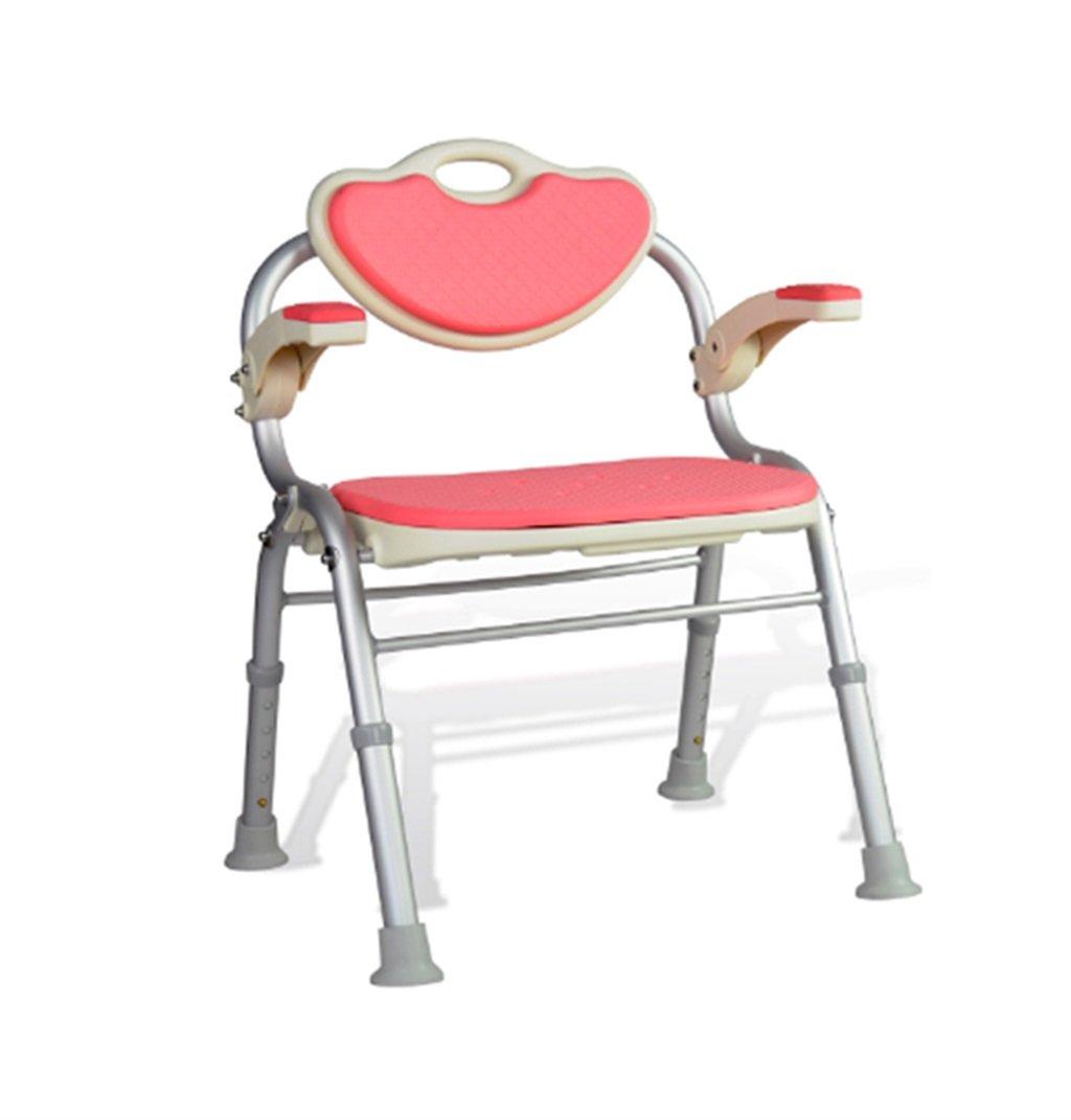 高齢者のためのシャワーチェアシャワースツールの安全性ノンスリップアルミ製のバススツール妊婦と障害者シャワーシートスツール (色 : ピンク ぴんく) B07DSB4V86  ピンク ぴんく
