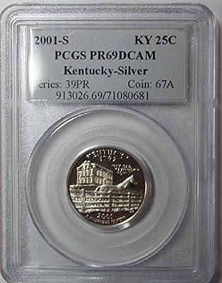 2001 S Kentucky Silver State Quarter 25c PR69DCAM PCGS
