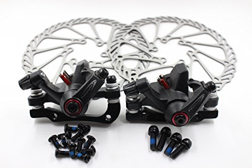 Disc Brake Sets, InsReve NV 5 G3/HS1 Mountain Bicycle Bike Mechanical Disc Brake Kit Front and Rear 160mm Caliper Rotor BB5 BB7 BB 5 BB 7