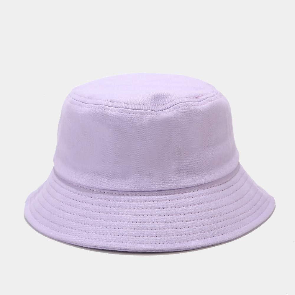 ZWXDMY Bucket Hat Herren,Pure Purple Unisex Fishermans Hut Sommer Faltbar Bob Eine M/ütze Outdoor Sonnenschutz Baumwolle Angeln Jagd Kappe F/ür Reisen Camping Wanderurlaub