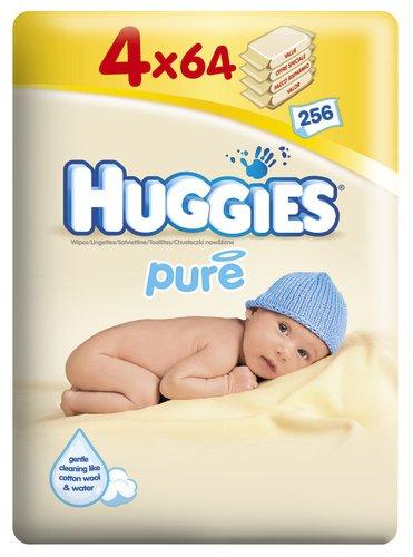Huggies Pure Feuchte Baby Pflegetücher, 2er Pack (2 x 256 Stück) 5029053533964