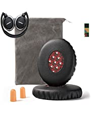 Upgrade Bose On-Ear 2 (OE2) Earpad Compatible with Bose OE2 OE2i SoundLink SoundTrue Ear Pads Cushion Muffs(On Ear Headphones ONLY), Black w/Red Mesh