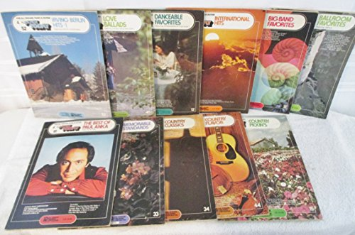 11 book lot Hal Leonard EZ Play Today Song Books for Organ , Piano and Guitar Paul Anka and Much More. ()