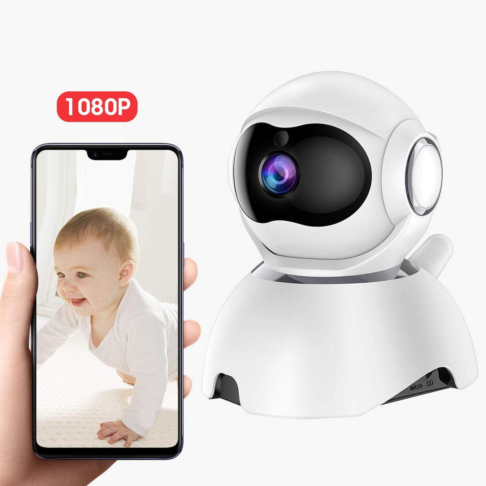 DEYAN Video Baby Monitor Camera 1080P WiFi Home Security Camera Pan Tilt Zoom Baby Sound Det ection Motion Tracking Night Vision 2-Way Audio for Baby Pet Elder