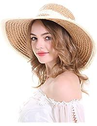 Summer Beach Hat Wide Brim Tassels Floppy Ladies Outdoor Adjustable Straw Hats