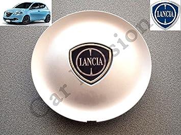 1 Coppetta Tapacubos Lancia Ypsilon Y A partir de 2011 Escudo original trago Tapón Llanta de aleación gris: Amazon.es: Coche y moto