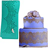 """14.5"""" jewels baking Fondant sugar lace Silicone Mat wedding Cake Decorating mold chandelilac edible Lace Embossed Sugarcraft Tools for cupcake topper decoration Anyana"""