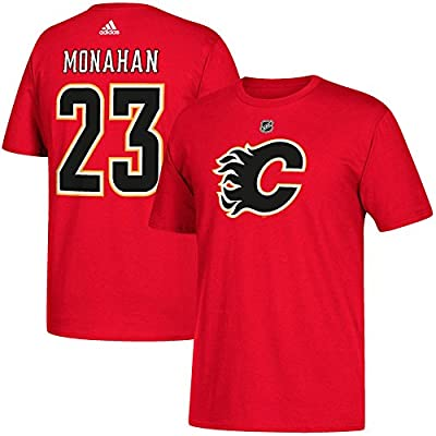 adidas Calgary Flames Sean Monahan NHL Silver Player Name & Number T-Shirt