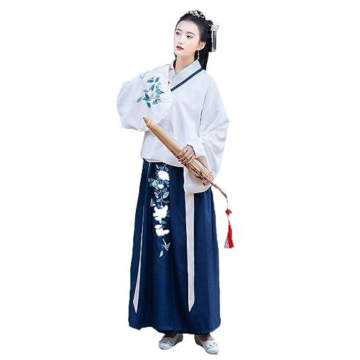 YCWY Hanfu Chino Antiguo de la Mujer, Vestido Chino Bordado ...