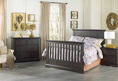 Full Size Conversion Kit Bed Rails for Oxford Baby Cribs (Slate) by CC KITS (Image #1)