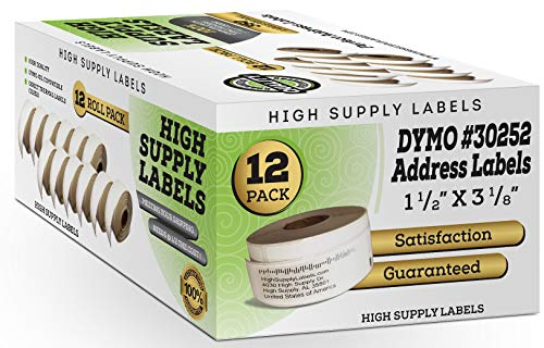 Dymo 30252 Labels 1 1/8 by 3 1/2 Inches 12 Rolls,4200 Labels
