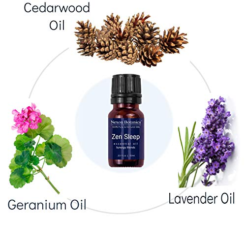 Aromatherapy Essential Oil Synergy Blend Set - 100% Pure & Natural Undiluted Therapeutic Grade Blends Include Breathe Ease, Health Plus, Zen Head, Muscle Ease, Zen Sleep, Immune Boost Oils 6 x 10 ml by Nexon Botanics (Image #6)