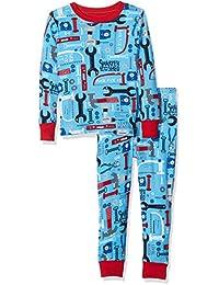 Boys' Organic Cotton Long Sleeve Printed Pajama Sets